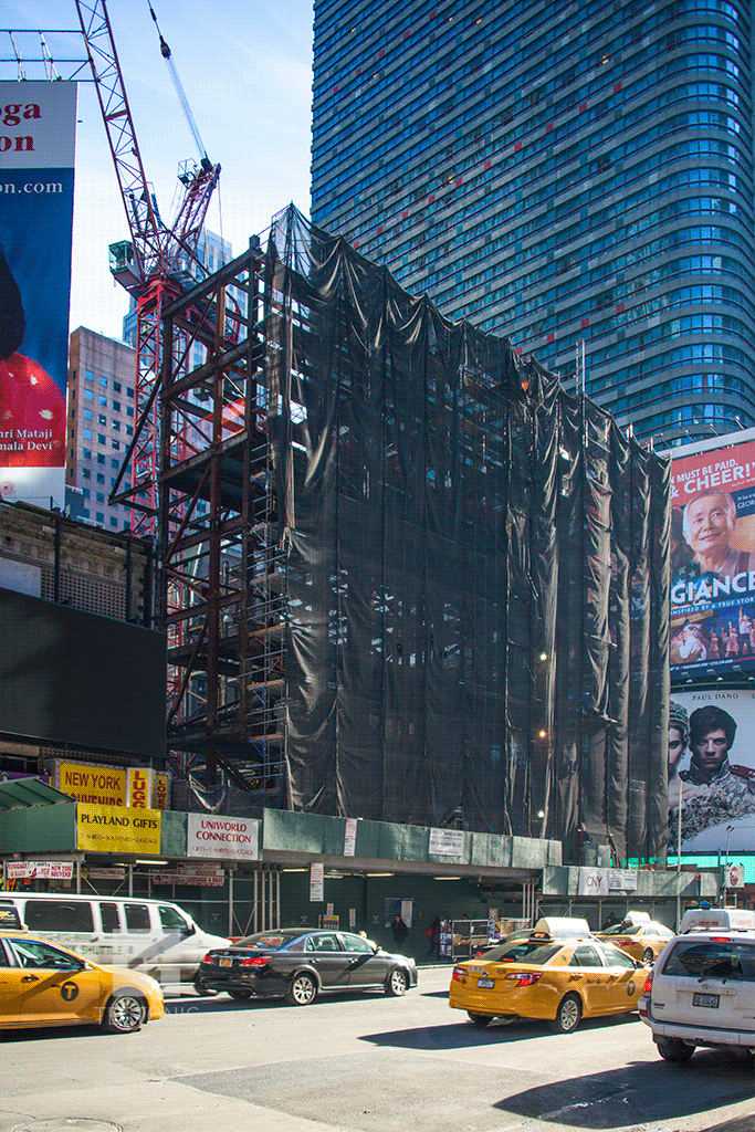 Viewed from the north along 7th Avenue