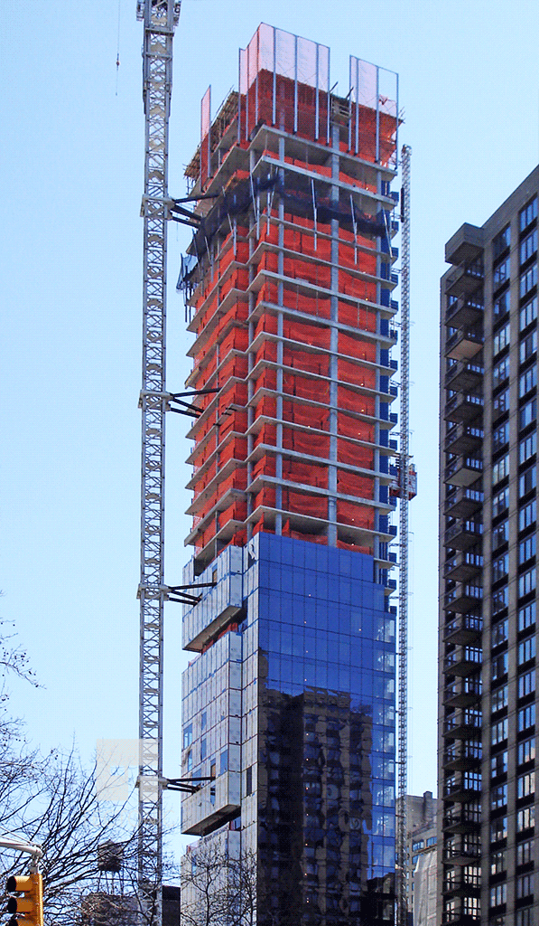 Viewed along East 23rd Street