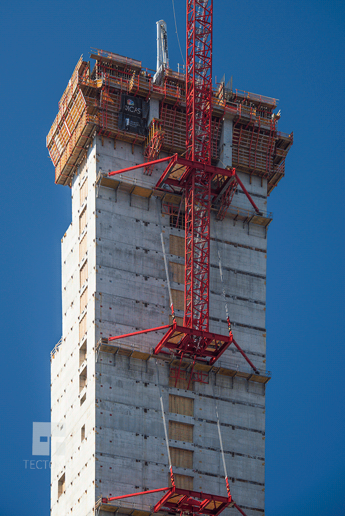 Core construction from the east