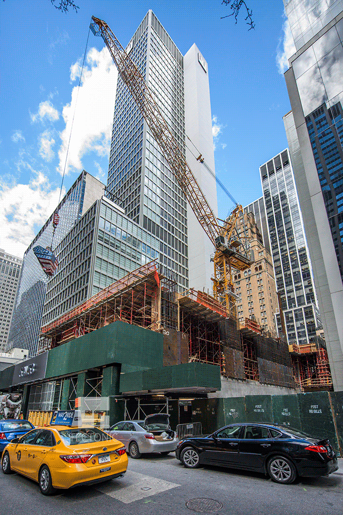 Southeastern corner of the site from West 53rd Street