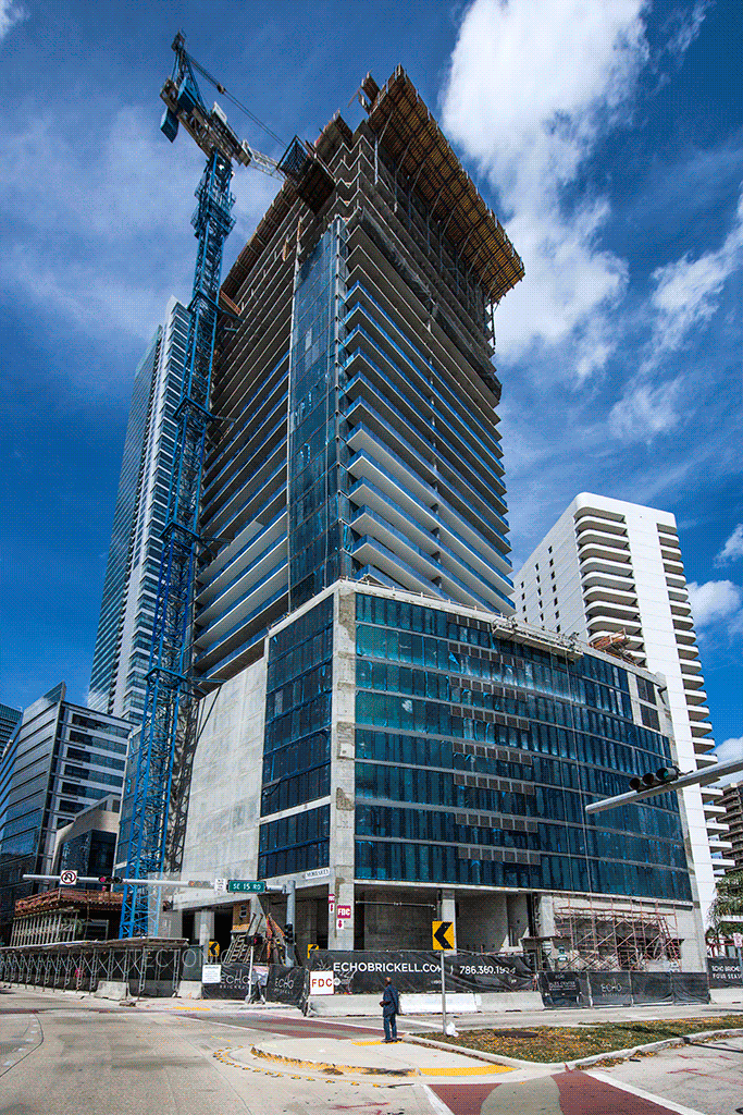Southwestern corner at Brickell Avenue and SE 15th Road