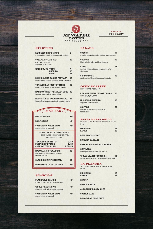"Front of menu—11""x17"""