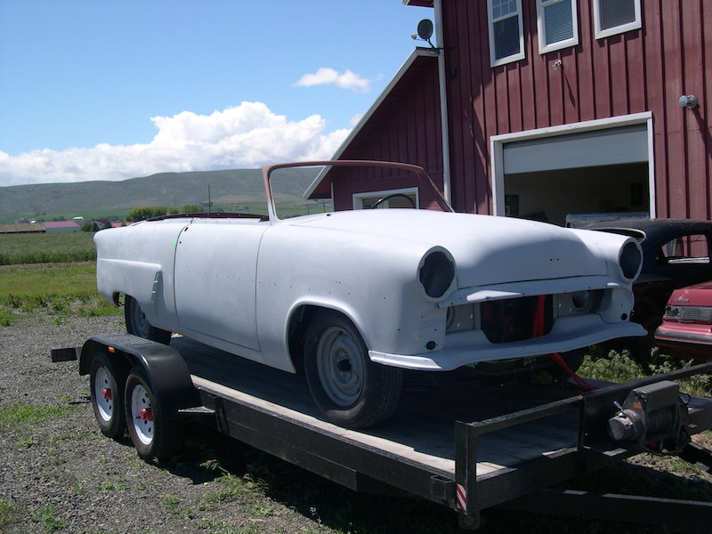 In Process after bodywork: 1953 Ford Convertible