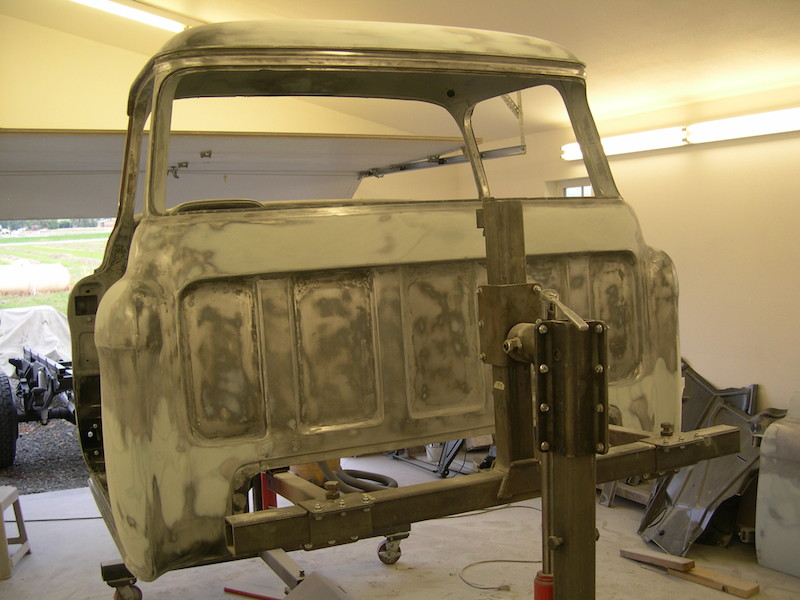 Before and in Process:1957 Chevrolet Pickup