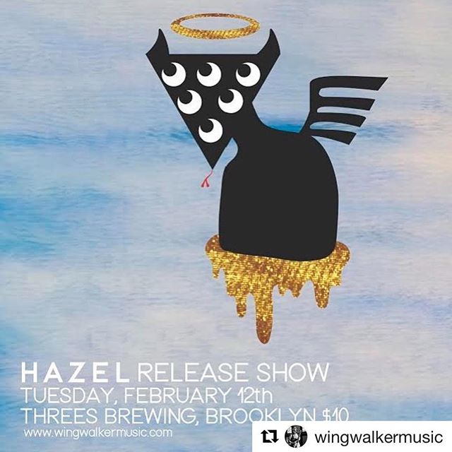 "#Repost @wingwalkermusic with @get_repost ・・・ Come celebrate the release of Wing Walker Orchestra's debut album ""Hazel"" on Feb 12th at @threesbrewing featuring @bigheartmachine and Liddle. We'll have LPs, CDs, and MERCH. All artwork by the legendary @brendanculp . . #jazz #bigband #brooklyn #wingwalkerorchestra #hazel #saga #tuneyards #bighearmachine #liddle #threesbrewing"