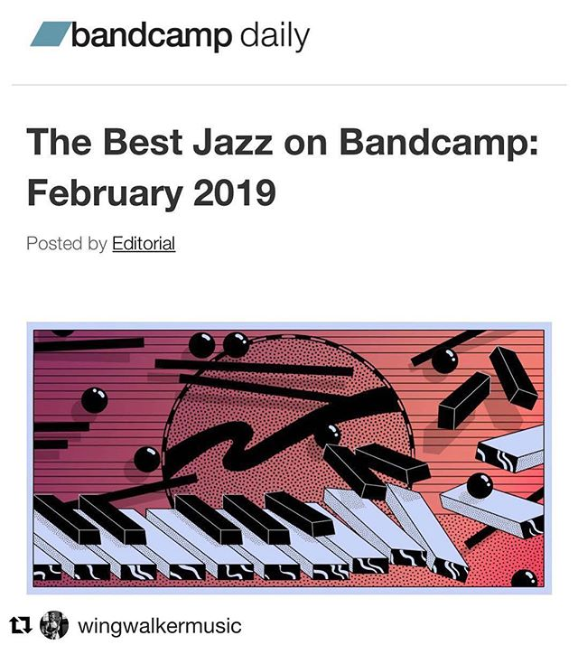 #Repost @wingwalkermusic with @get_repost ・・・ YESSS. I'm so excited that Hazel is listed along with all of these incredible artists as one of the Best Jazz releases on @bandcamp for February 2019. Thanks to Dave Sumner!  https://daily.bandcamp.com/2019/02/26/best-bandcamp-jazz-february-2019/