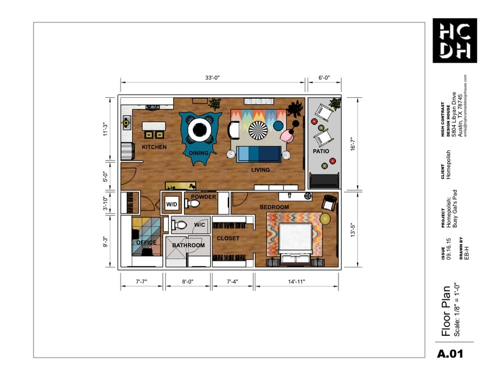 Busy Gal's Pad for Homepolish, Floor Plan