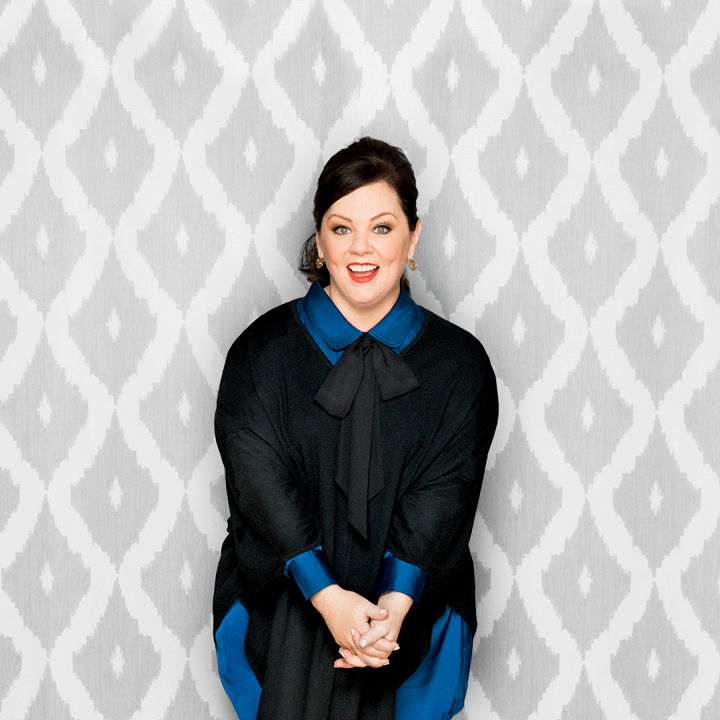 Melissa McCarthy   is funny. There is no question there. But did you know the comedic actress started in fashion design, and recently launched her own fashion line for ALL SIZES? She's a friggin' hero.