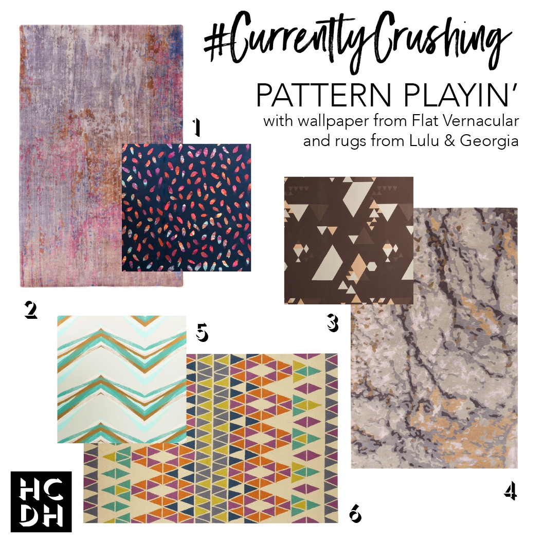 #CurrentlyCrushing: Pattern Playin' with Wallpaper and Rugs — High Contrast Design House