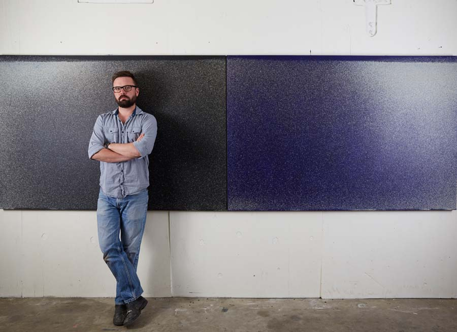 Artist John Knuth uses flyspeck to create stunning, transcendent modern art.      (photo courtesy of John Knuth and David B. Smith Gallery)