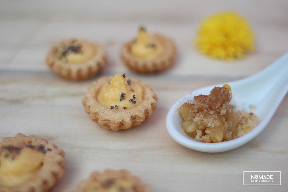 Tarteletas con crema de limón + Crumble de manzana