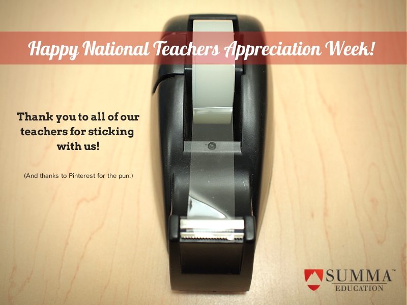 National Teachers Appreciation Week