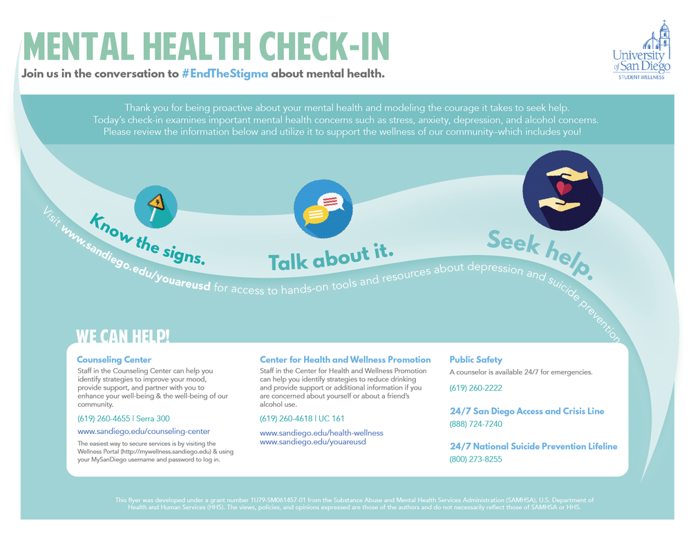 Mental Health Check-in Handout