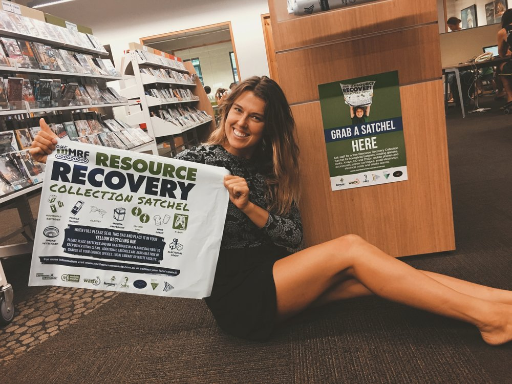 Resource Recovery Satchel available at the Library.