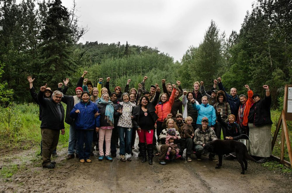 2013 - OUR POWER Action Camp - Chickaloon, AK      - Access Road to proposed 10,000 acre coal mine.
