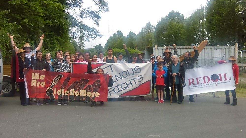2015 Seattle Idle No More gathering before Shell No Flotilla