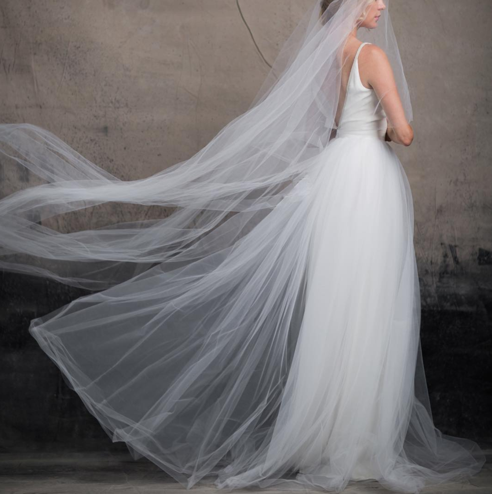 soho_bride We love a bride who rocks a tulle skirt. The CARRIE gown by  @andforlove is the ultimate pick for the modern romantic. Try this on at SoHo in August  #coolbrides  #australianbrides  #modernbrides  #styleofherown  #coolbride image by  @karolinakuras