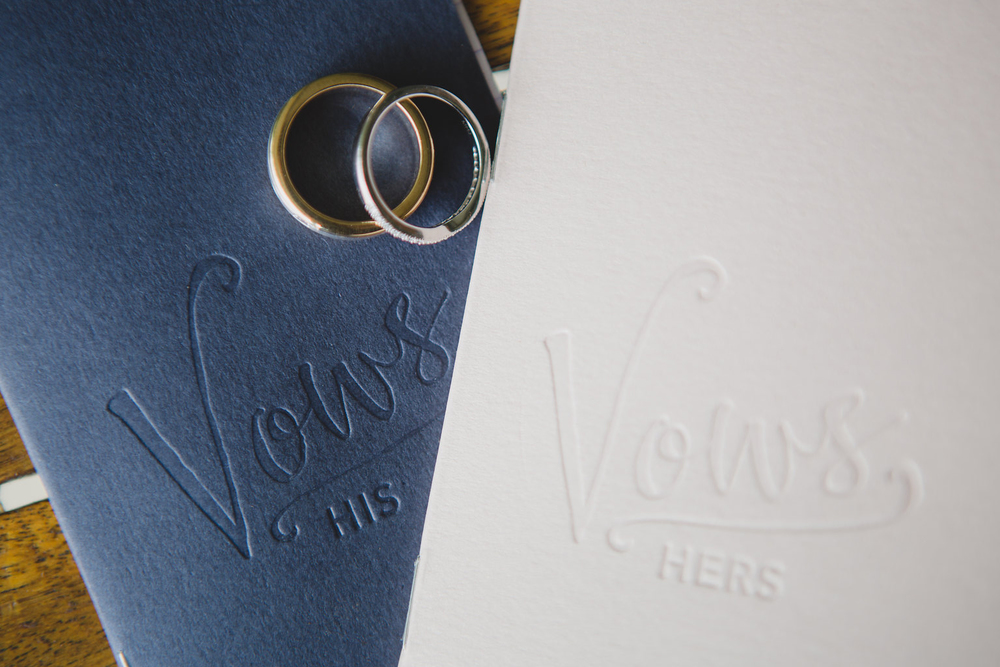 Our vow booklets, available in the  shop .
