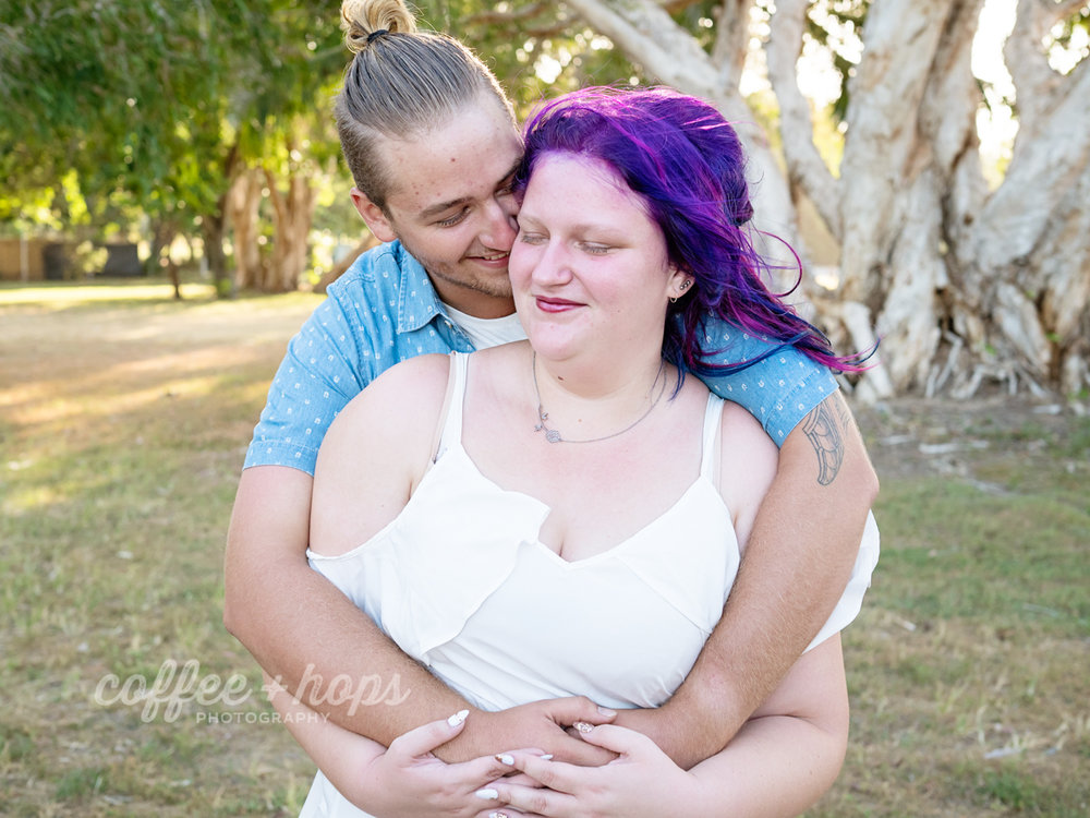 Kaitlyn & Baden's Engagement Session at Illawong Beach