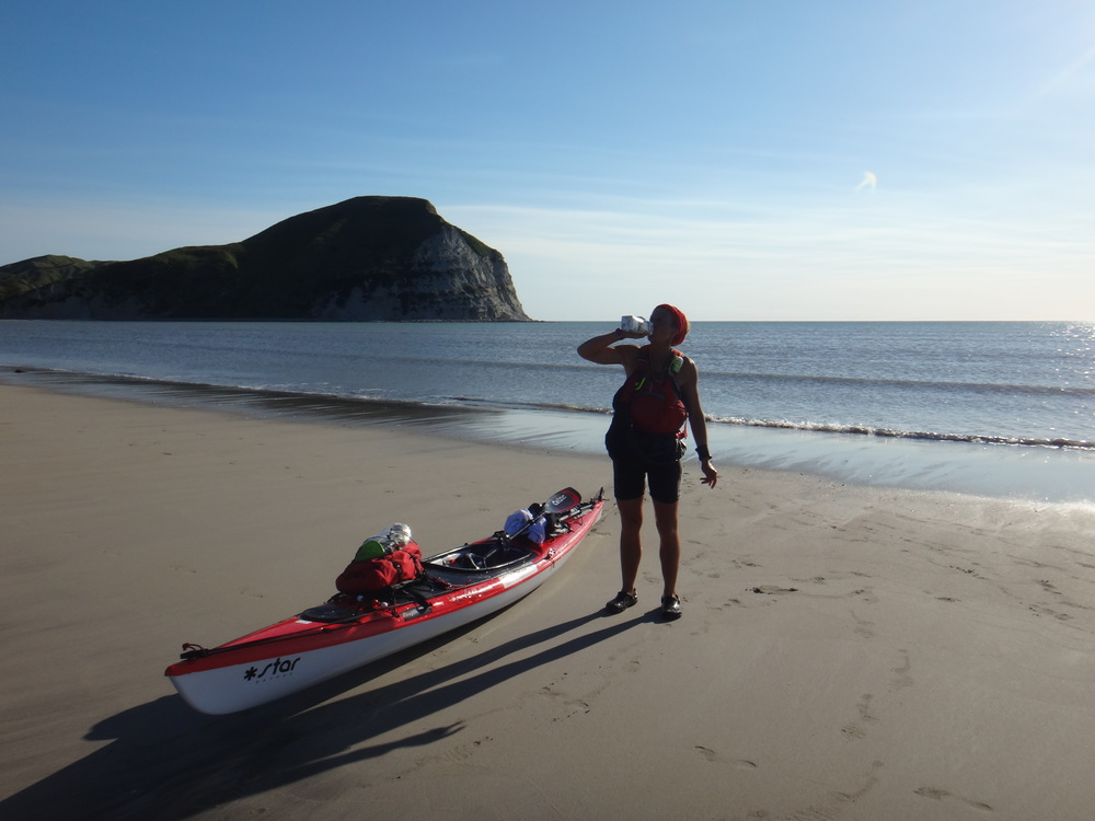 Getting prepared for the long paddle around Mahia Peninsular