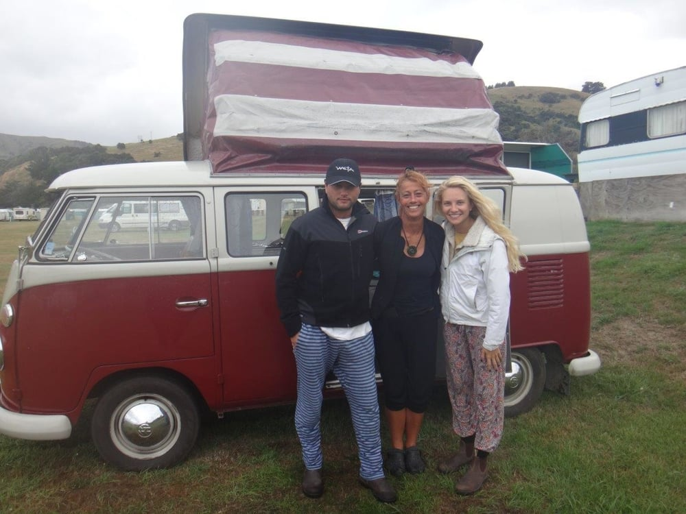 Ford, Red, Lena and the beaut Kombi Van