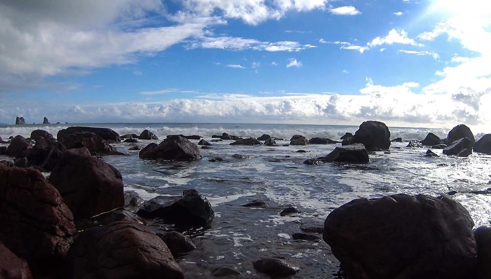 The rocks at Barn Bay