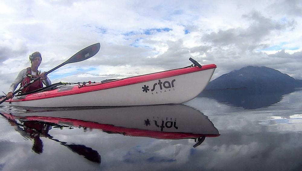 Paddling T2 on Lake Brunner
