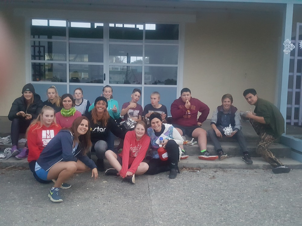 The hard working Hangi team.
