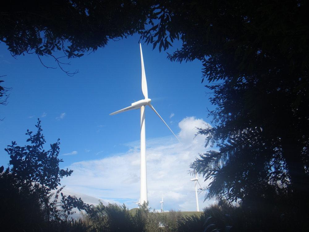 Windmills. Huge and amazing.