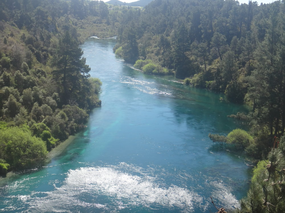 Taupo River waters.