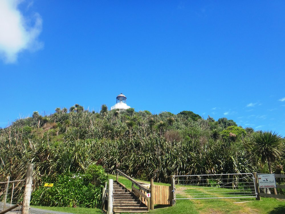 Light house at Manukau Heads.