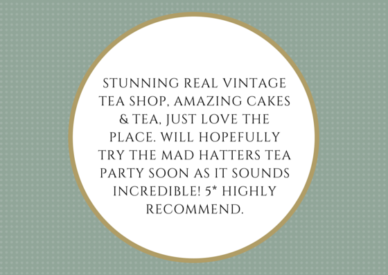 Vintage tea shop review