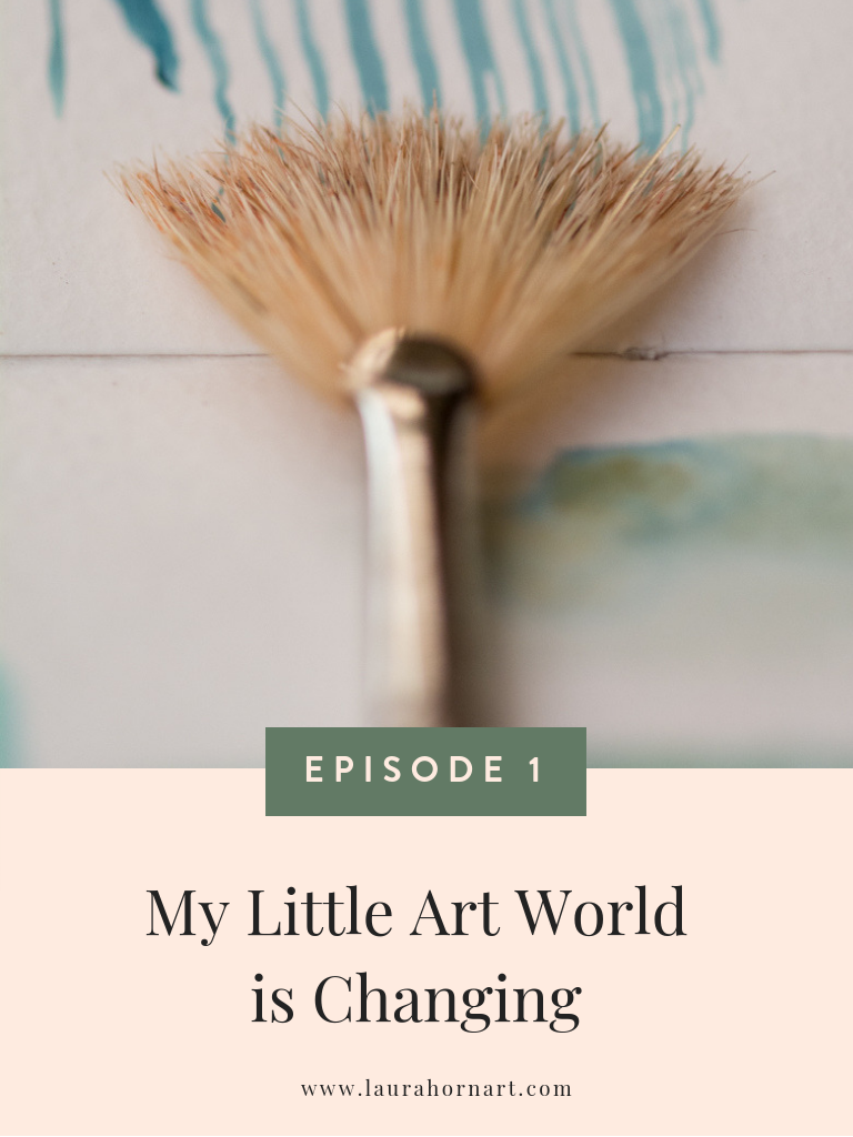 my little art world is changing