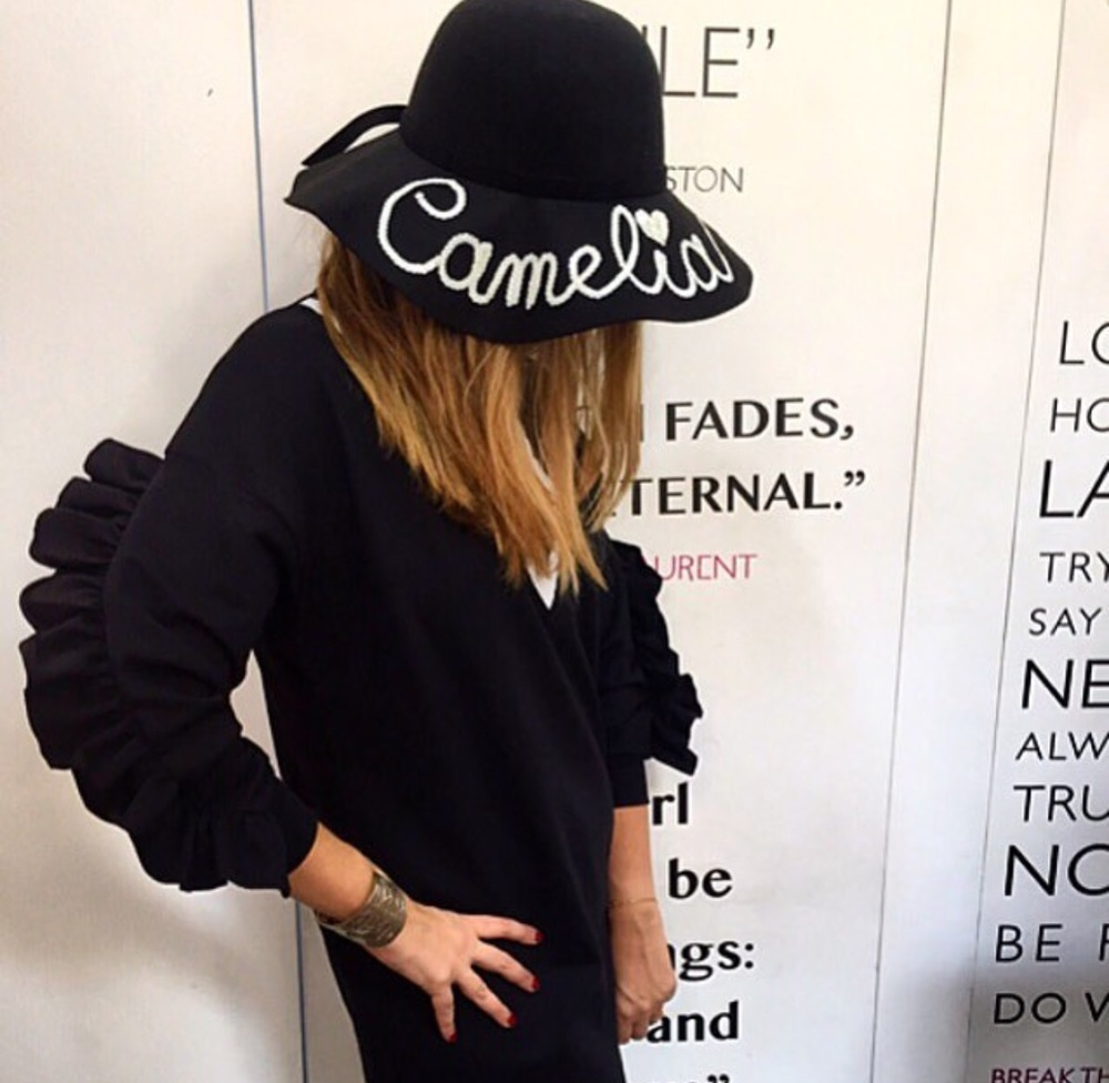 We love customised hats this fedora is gorgeous