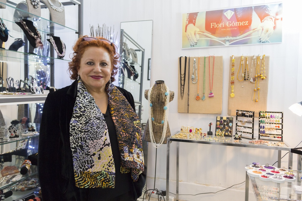 Flori Gomez at her studio
