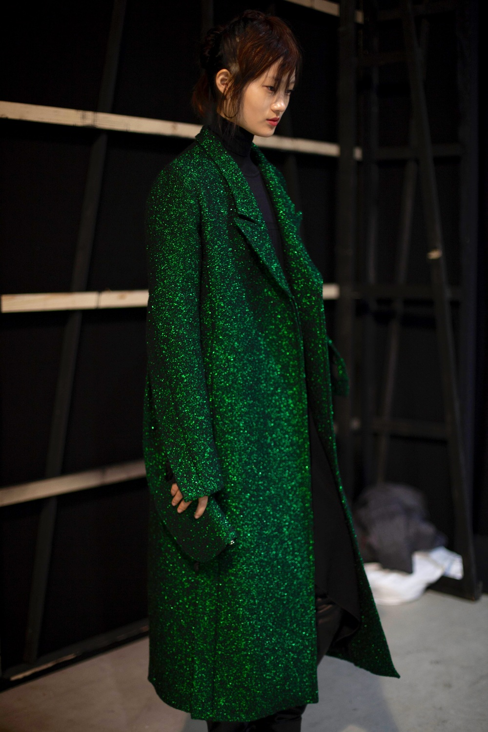 Emerald shimmer print - Costume National - photo Giulia Rosatelli