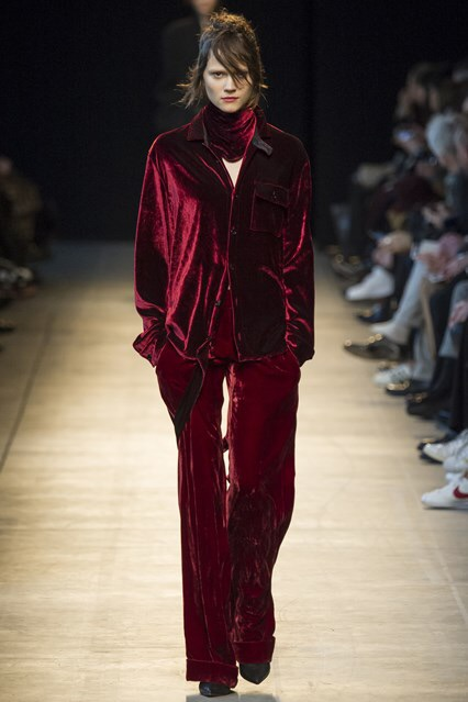 Burgundy masculine trousers - Costume National