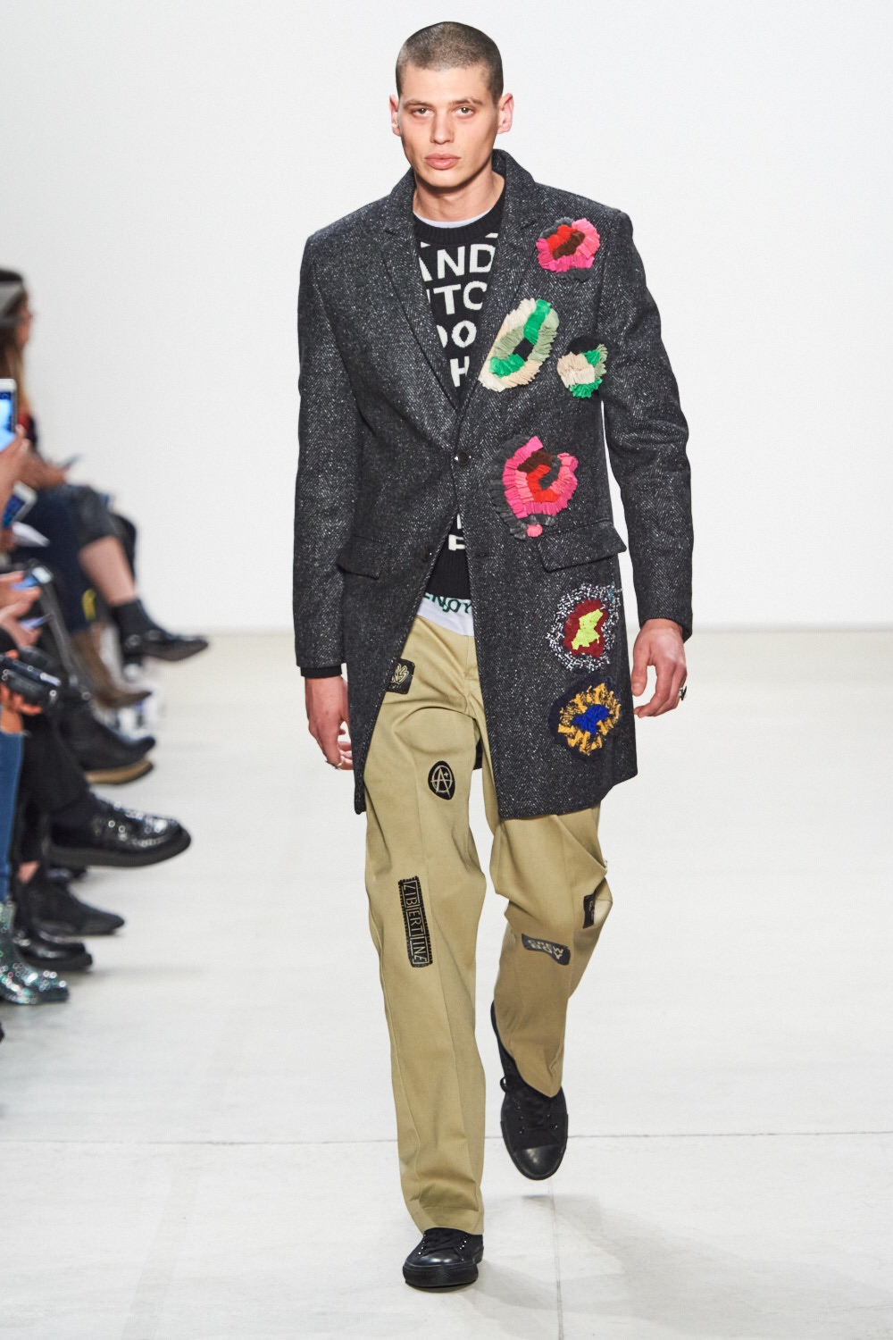Patchwork pants for boys. Libertine.