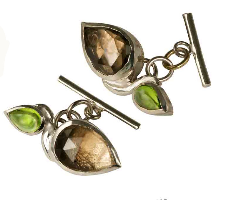 Botanical inspired cuff links - Farah Qureshi