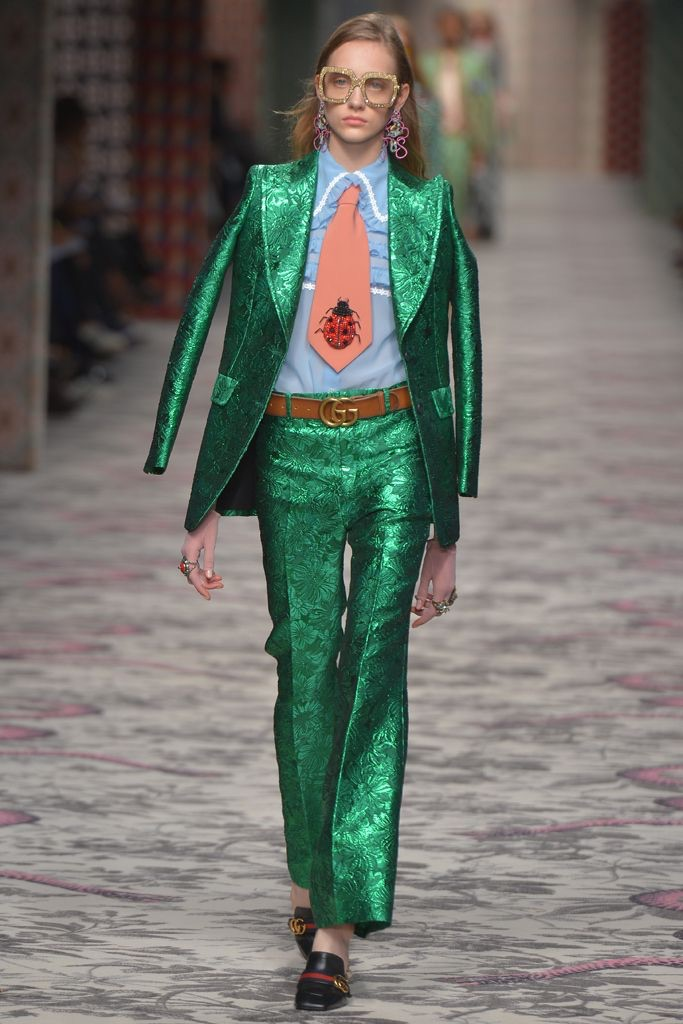 That glorious Gucci emerald green suit