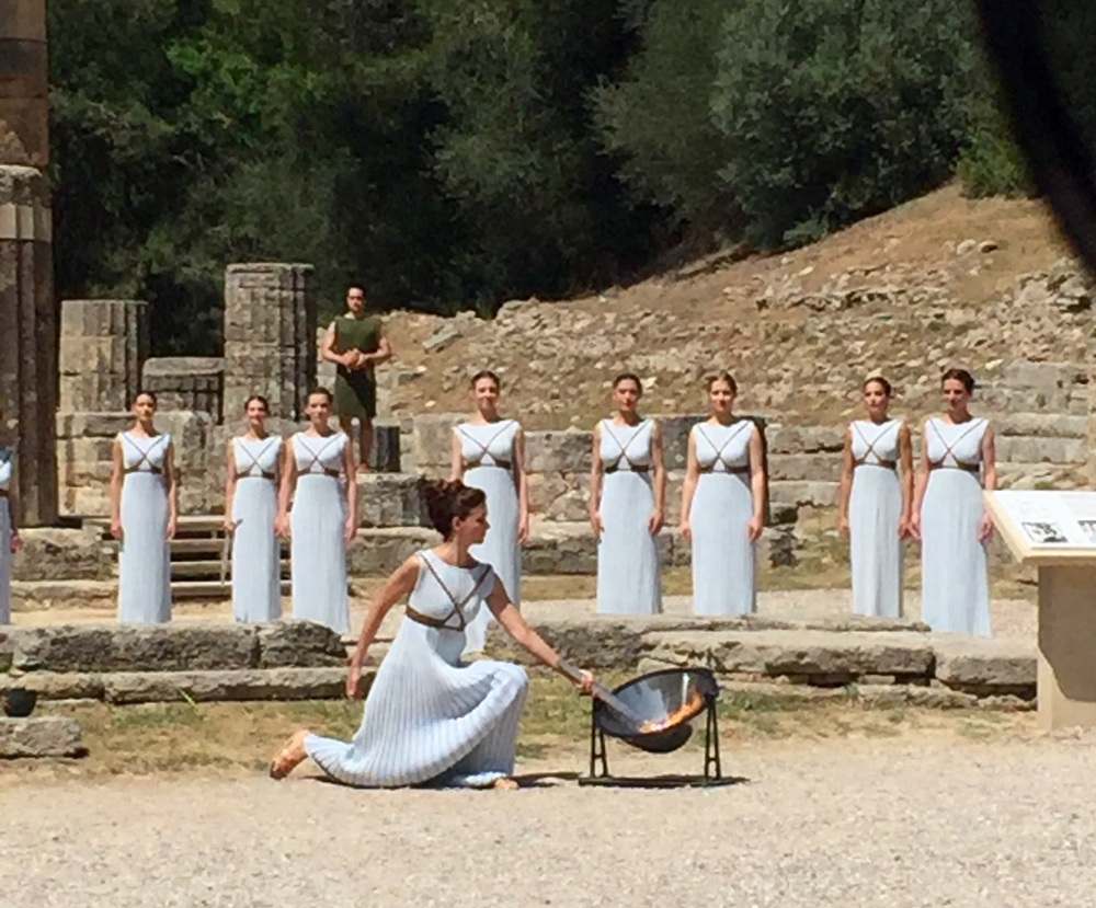 Olympia torch ceremony rehearsal