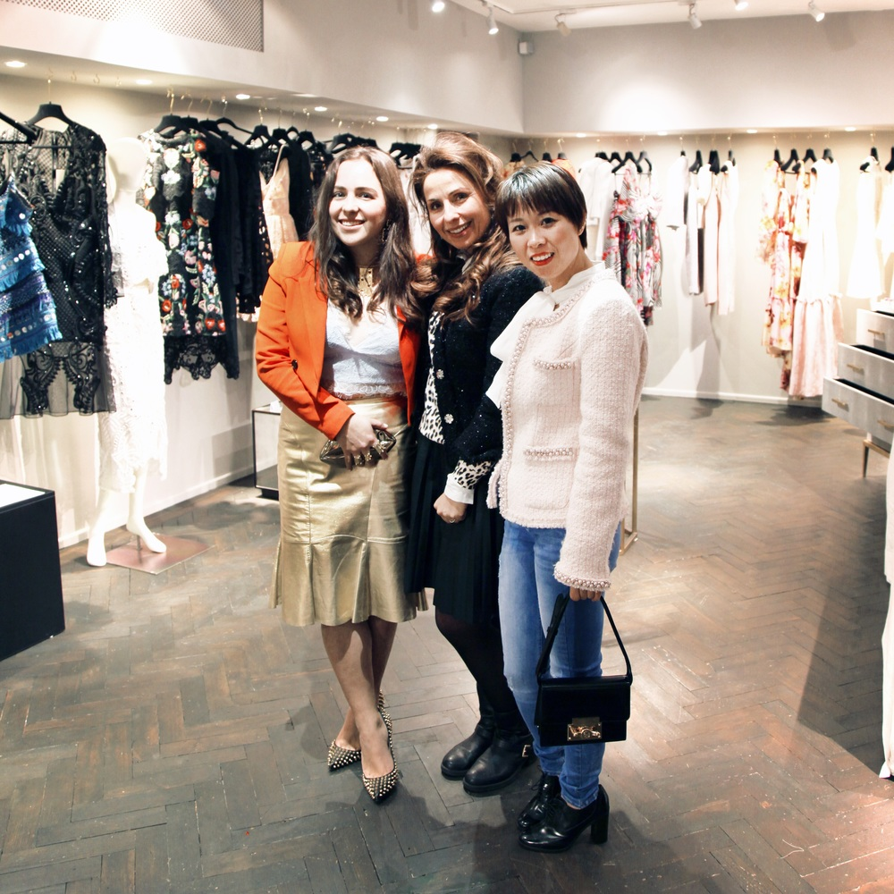 Our hostess Elena Antoniades (middle), Jill Hopkins (left) and Susen from Subella London (right).