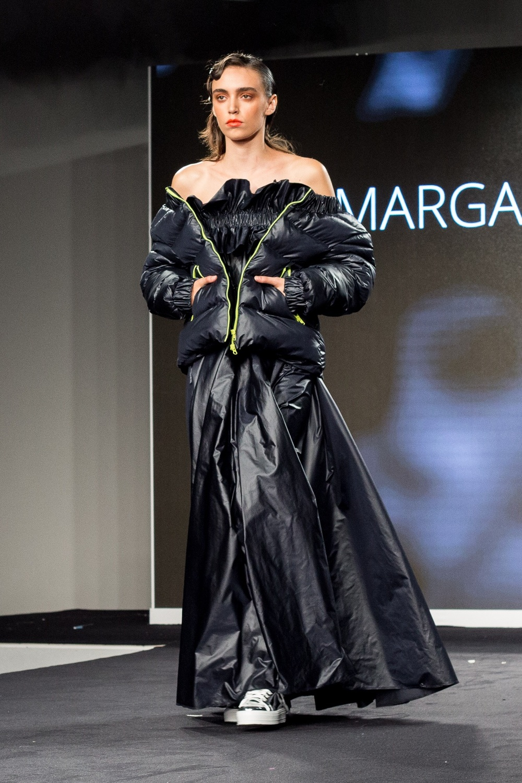 Margarita Davydova - puffa jacket.