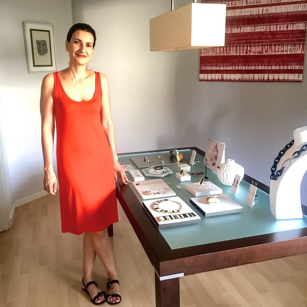 Beatriz Vergara at her studio.