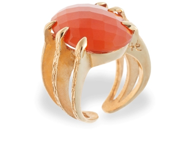 The Coral Sira ring in gold plate my favourite - Hissia