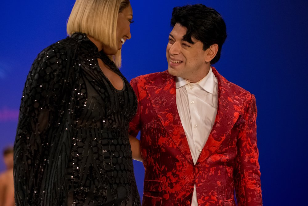 Malon Breton with Nene Leakes at his NYFW show this past week
