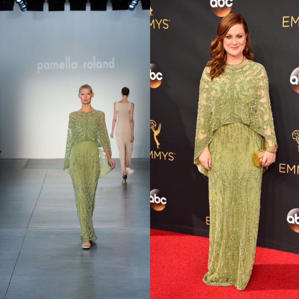 Amy Proehler at the Emmys red carpet perfect .