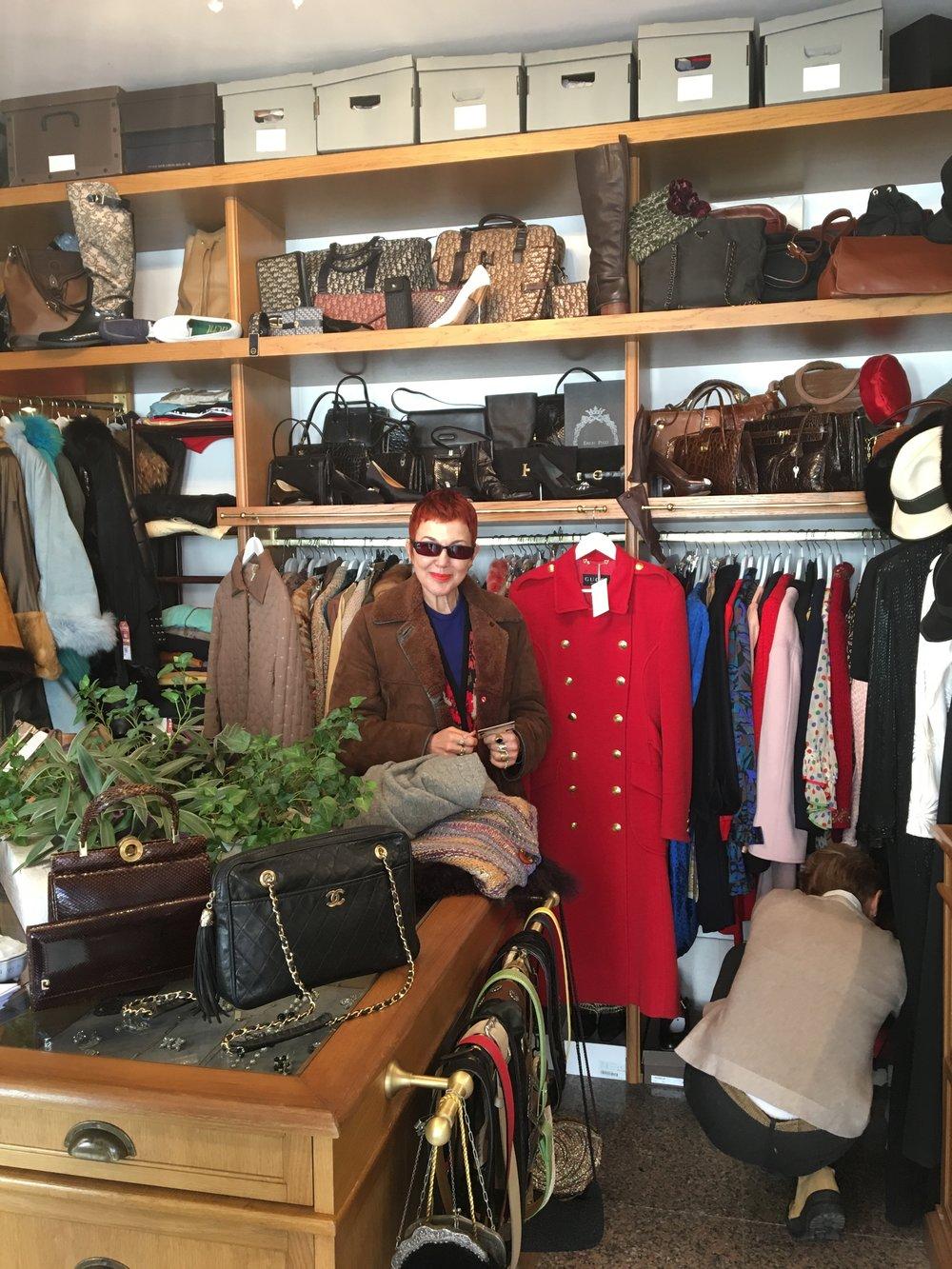 Rummaging for me inside the shop - l'Armadio de Coco