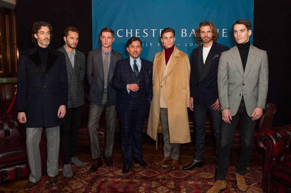 Christopher Modoo - creative director of Chester Barrie with the boys