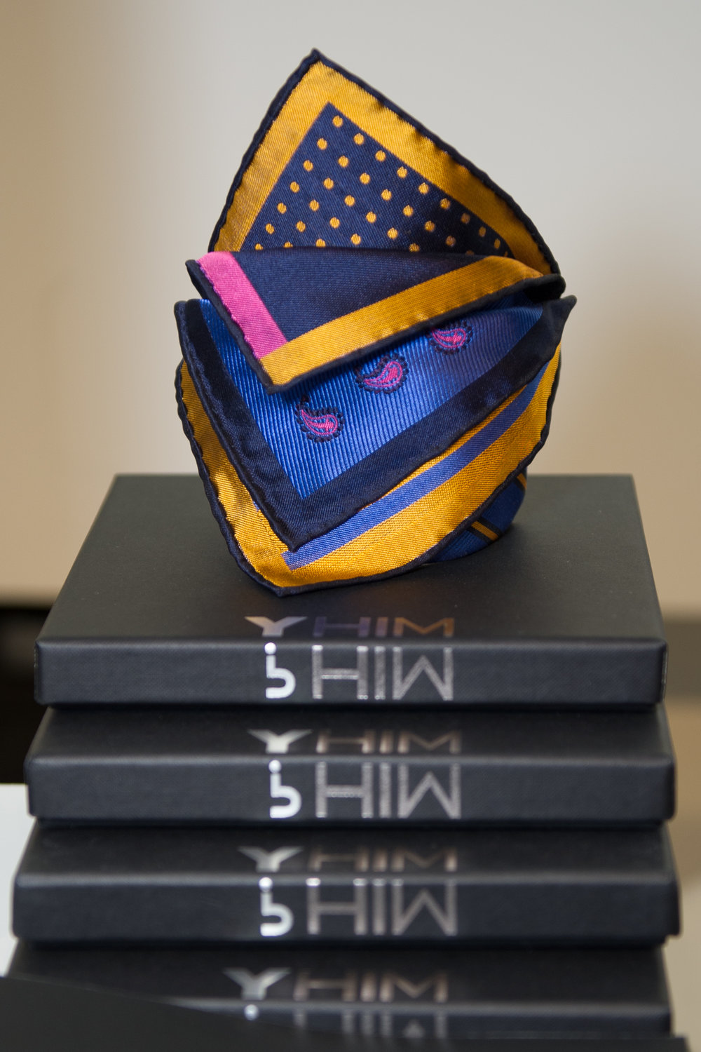 One of the pocket square combinations